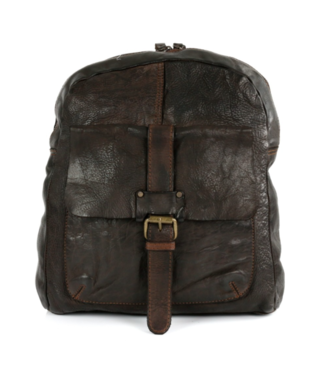 Harbour 2nd Dark brown leather backpack