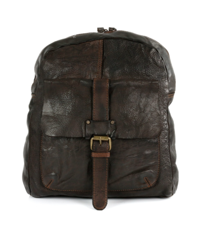 Harbour 2nd Dark brown leather backpack Gudrun