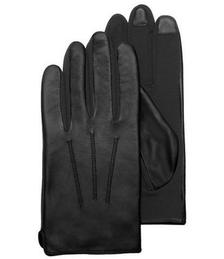 Kessler Black leather mens glove