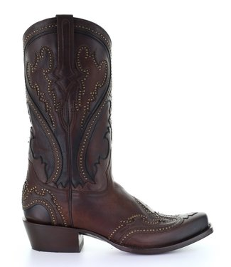 Corral  Brown cowboy boots with studs