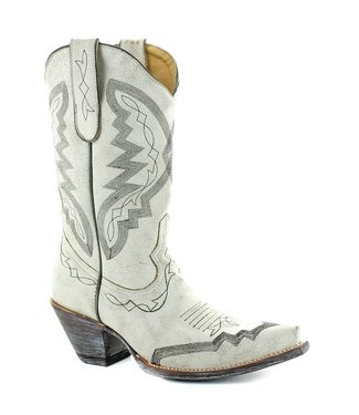 Old Gringo White half high cowboy boots