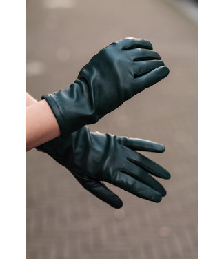 Kessler Dark green leather glove