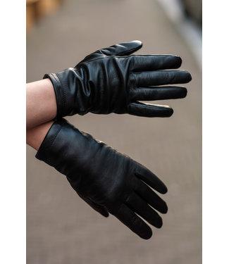 Kessler Zwarte leren handschoen