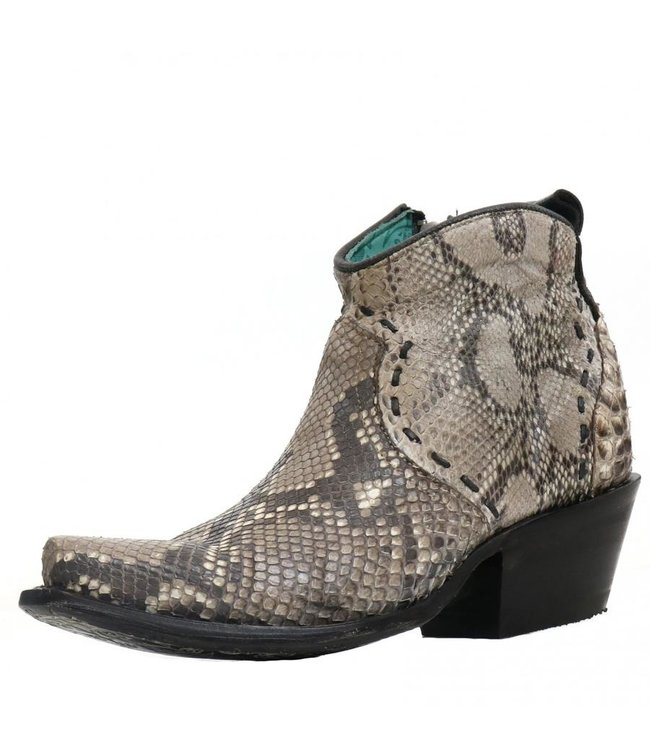 Corral  Natural  python leather ankle boots
