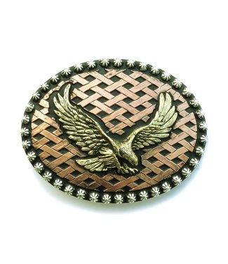 Crumrine Bronzefarbene Schnalle mit Adler