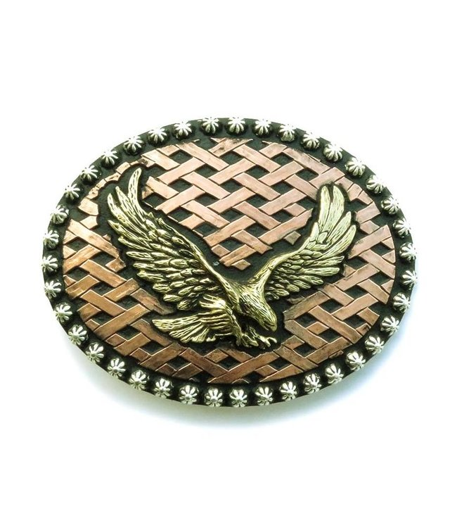 Crumrine Bronze colored buckle with eagle