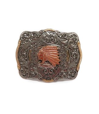 Crumrine Buckle with Indian Chief