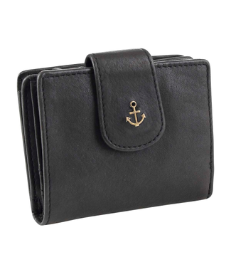 Harbour 2nd Black leather wallet Stella