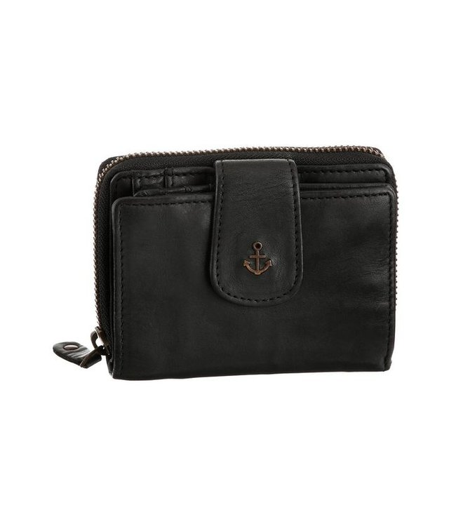 Harbour 2nd Black leather wallet Isidora