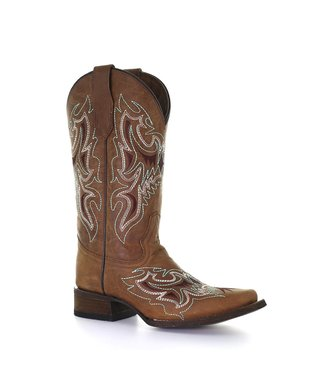 Circle G by Corral Brown leather western boot with square toe