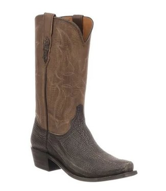 Lucchese Brown western boot made of shark leather