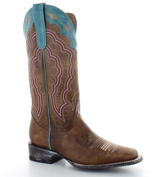 Old Gringo Brown leather western boot with square toe