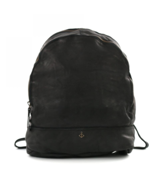 Harbour 2nd Black leather backpack