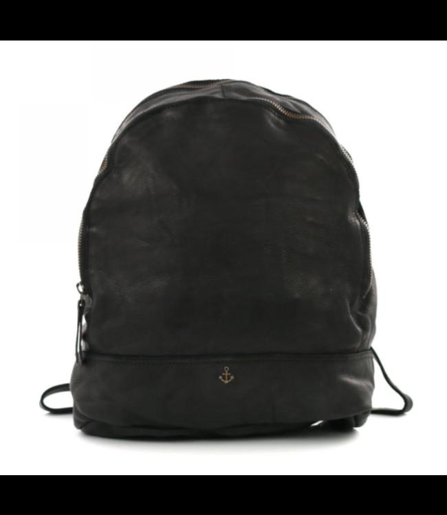 Harbour 2nd Black leather backpack Meghan