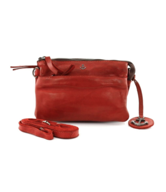 Harbour 2nd Orange leather bag  Perla