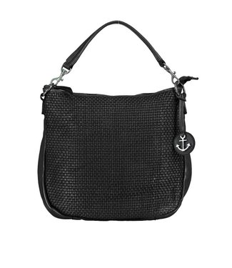 Harbour 2nd Black braided leather bag Maureen