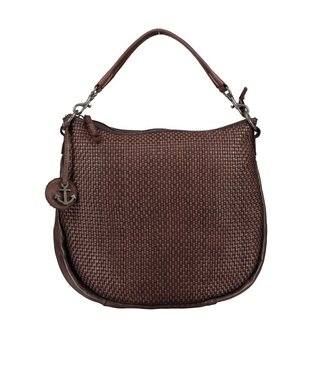 Harbour 2nd Dark brown braided leather bag Maureen