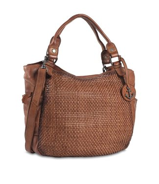 Harbour 2nd Brown braided leather bag Milva