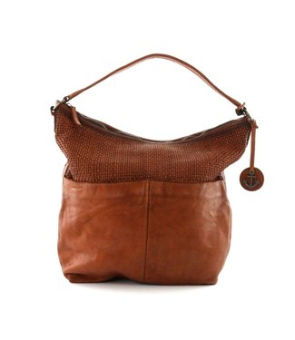 Harbour 2nd Brown braided leather bag Antonia