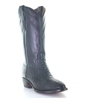 Corral  Dark red  cowboy boot made of ostrich leather