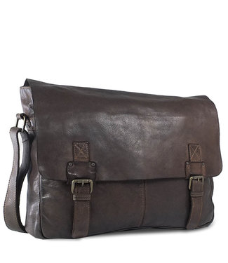 Harbour 2nd Black leather bag Yamal