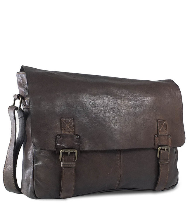 Harbour 2nd Black leather bag Yamal