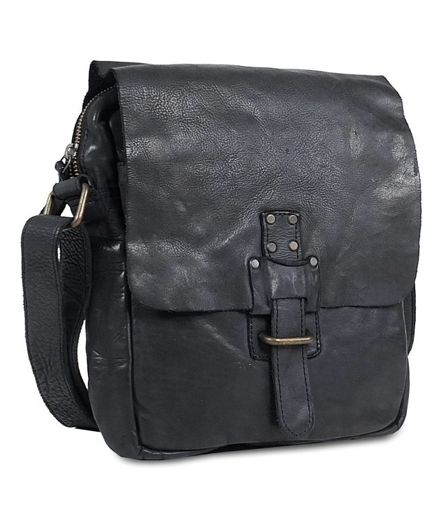 Harbour 2nd Black leather bag Marlies