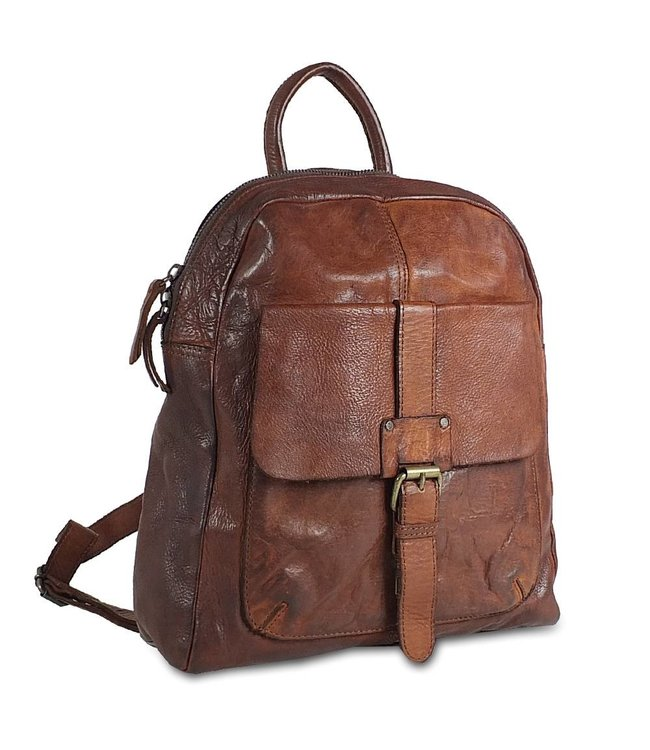 Harbour 2nd Brown leather backpack  Gudrun