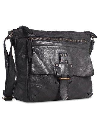 Harbour 2nd Black leather bag Hazel