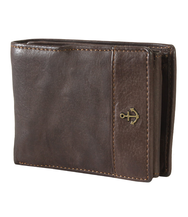 Harbour 2nd Dark brown leather wallet August