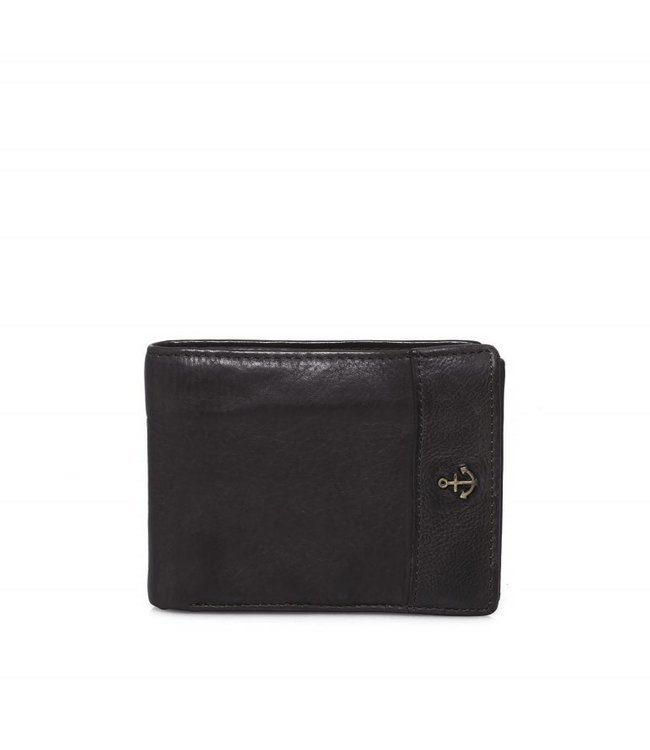 Harbour 2nd Black leather wallet August