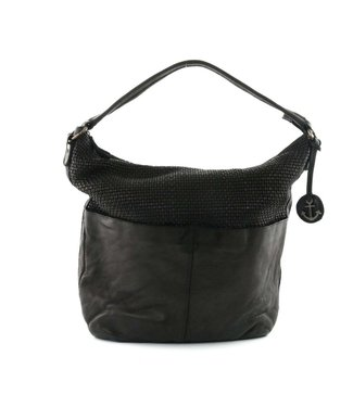 Harbour 2nd Black braided leather bag Antonia