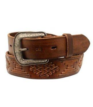 3D Belt Company Brauner gewebter Ledergürtel