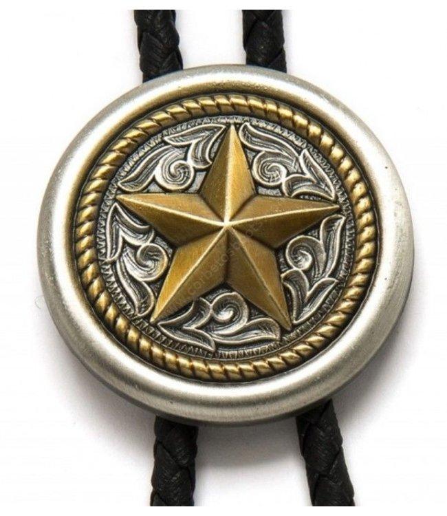 Round  bolo tie with star
