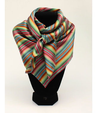 Shawl with multicolored stripes