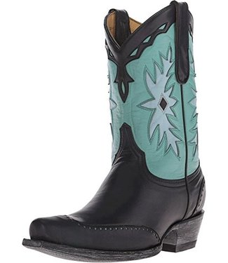 Old Gringo Cowboy boot in turquoise and black leather