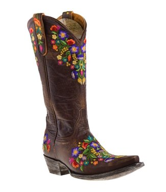 Old Gringo Brown leather cowboy boot