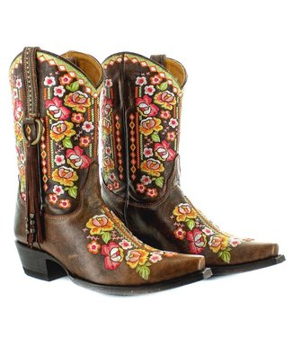 Old Gringo Half high brown leather cowboy boot