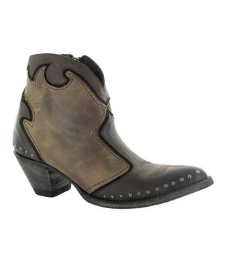 Old Gringo Brown and taupe leather ankle boots