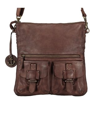 Harbour 2nd Dark brown braided leather bag Philipine