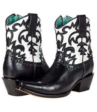 Corral  Black and white short cowboy boot
