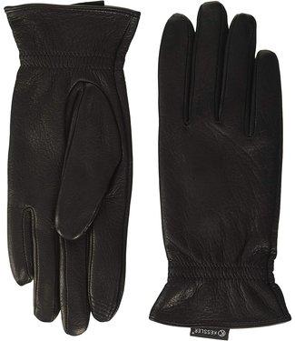 Kessler Zwarte leren handschoen Jonna