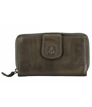 Harbour 2nd Green leather wallet Linn
