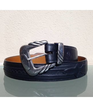 Lucchese Black leather belt