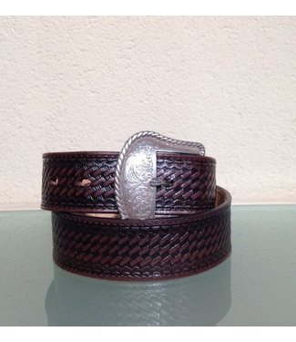 Nocona Brown leather belt