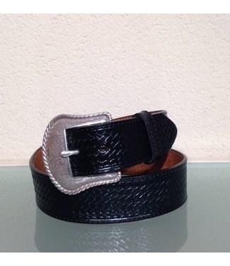 Nocona Black leather belt