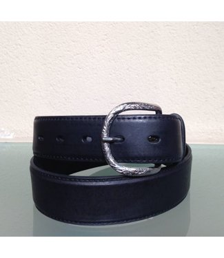 Nocona Belt Company Black leather belt with uplay