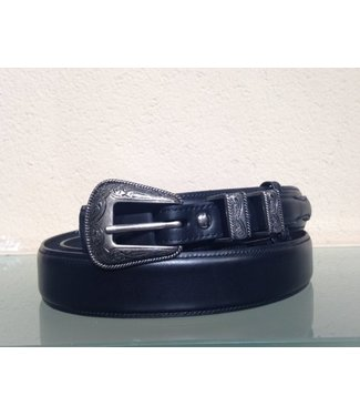 Nocona Belt Company Black narrow leather belt