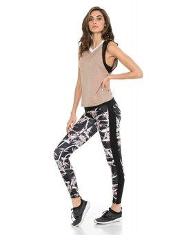 Body Language Sportswear Pax Tank - Coco/White/Black Mesh