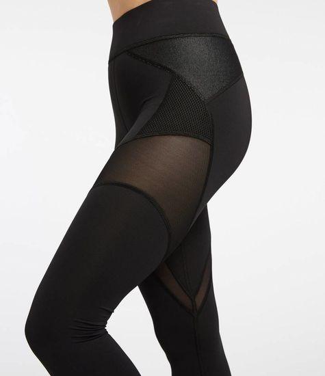 Michi Illusion Legging - Black with Denim